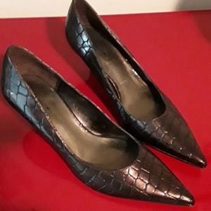 Bandolino copper colored heels